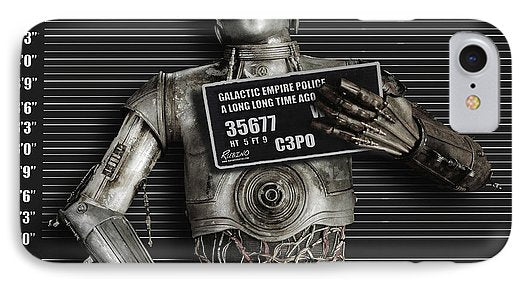 C-3po Mug Shot - Phone Case