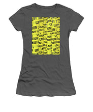 Caution - Women's T-Shirt (Athletic Fit)