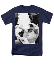 Cigar Smoker Cigar Lover Jfk Gifts Black And White Photo - Men's T-Shirt  (Regular Fit)