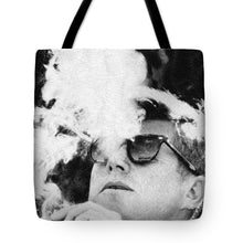 Cigar Smoker Cigar Lover Jfk Gifts Black And White Photo - Tote Bag