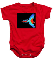 Colorful Parrot In Flight - Baby Onesie