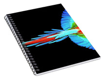 Colorful Parrot In Flight - Spiral Notebook
