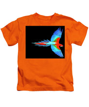 Colorful Parrot In Flight - Kids T-Shirt