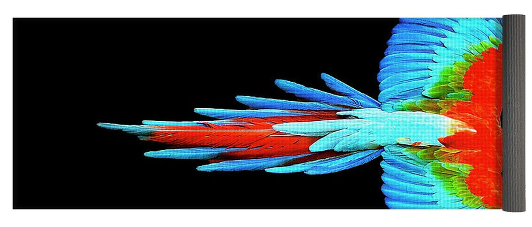 Colorful Parrot In Flight - Yoga Mat