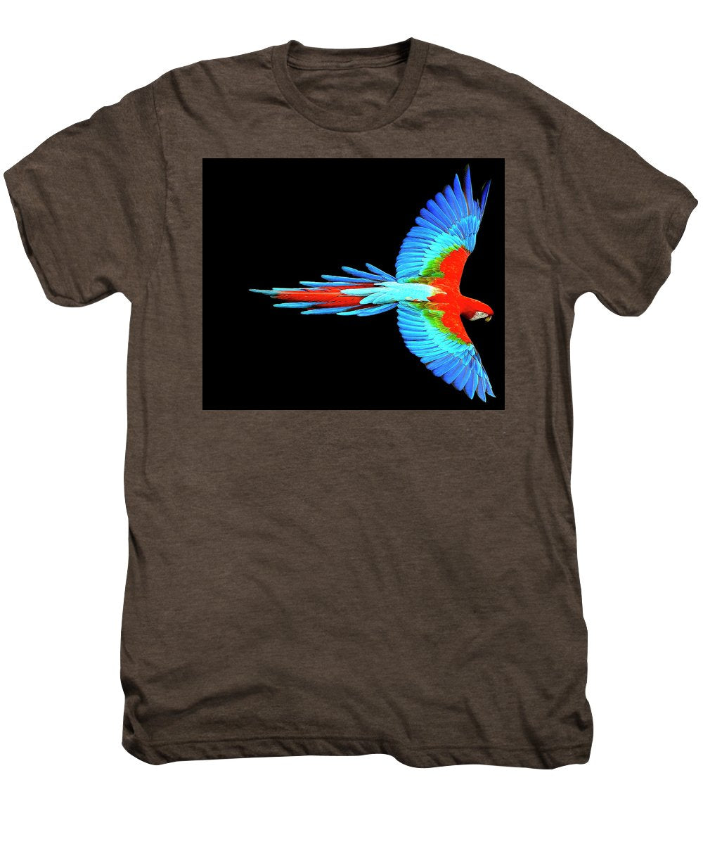 Colorful Parrot In Flight - Men's Premium T-Shirt