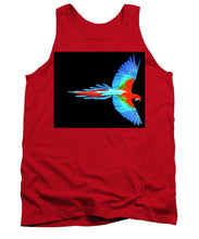 Colorful Parrot In Flight - Tank Top