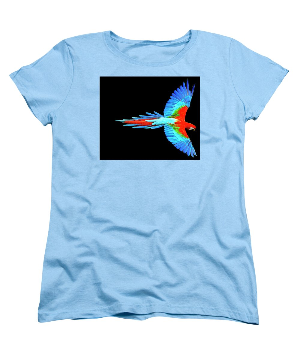Colorful Parrot In Flight - Women's T-Shirt (Standard Fit)