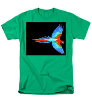 Colorful Parrot In Flight - Men's T-Shirt  (Regular Fit)