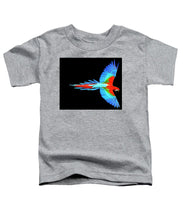 Colorful Parrot In Flight - Toddler T-Shirt