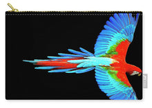 Colorful Parrot In Flight - Carry-All Pouch