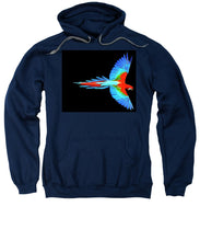 Colorful Parrot In Flight - Sweatshirt