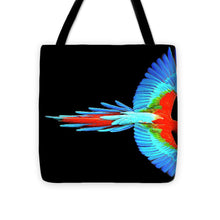 Colorful Parrot In Flight - Tote Bag