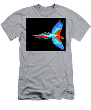 Colorful Parrot In Flight - Men's T-Shirt (Athletic Fit)