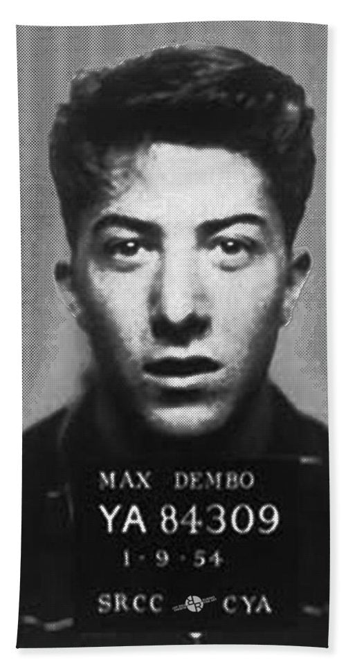 Dustin Hoffman Mug Shot For Film Vertical - Beach Towel