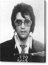 Elvis Presley Mug Shot Vertical - Canvas Print