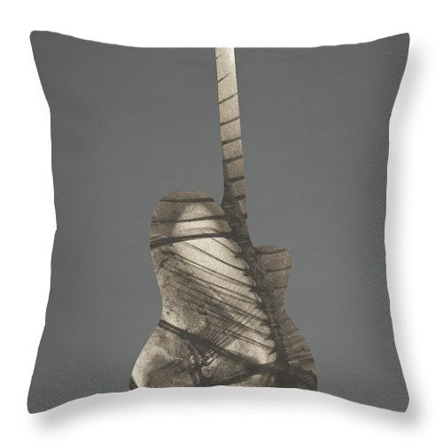 Fish Guitar                                                       - Throw Pillow