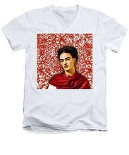Frida Kahlo 2 - Men's V-Neck T-Shirt