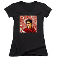 Frida Kahlo 2 - Women's V-Neck (Athletic Fit)