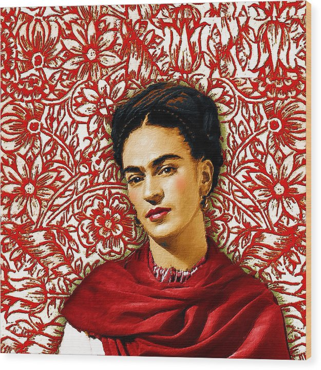 Frida Kahlo 2 - Wood Print