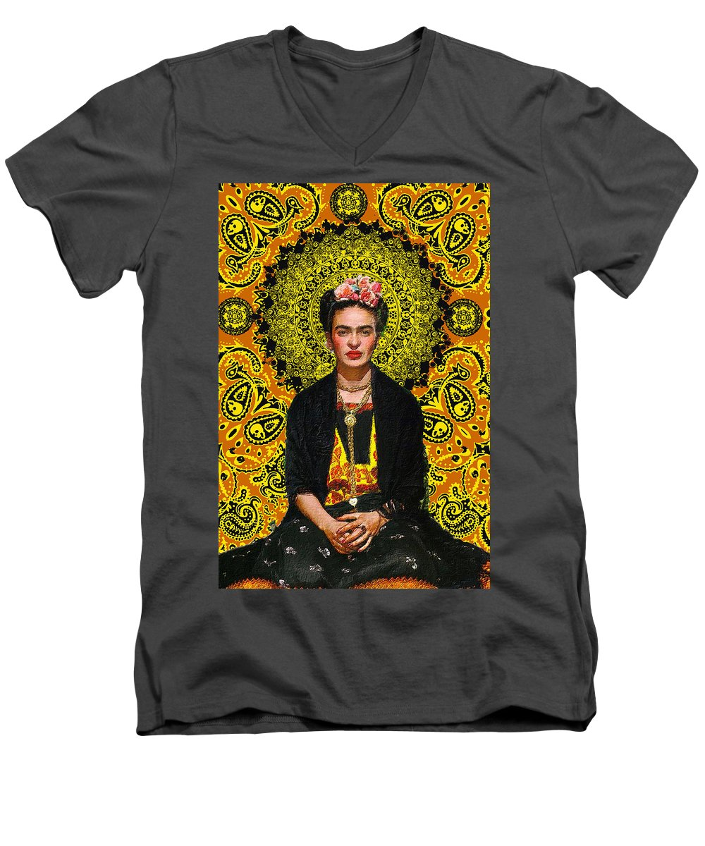Frida Kahlo 3 - Men's V-Neck T-Shirt