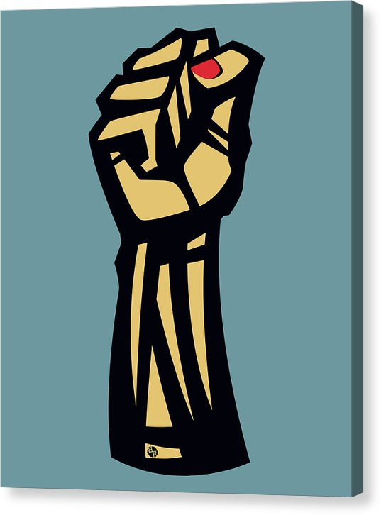 Future Is Female Empower Women Fist - Canvas Print