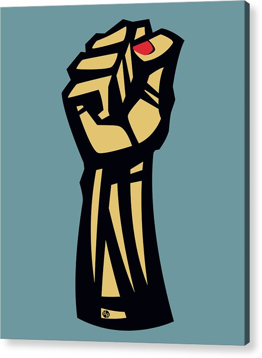 Future Is Female Empower Women Fist - Acrylic Print