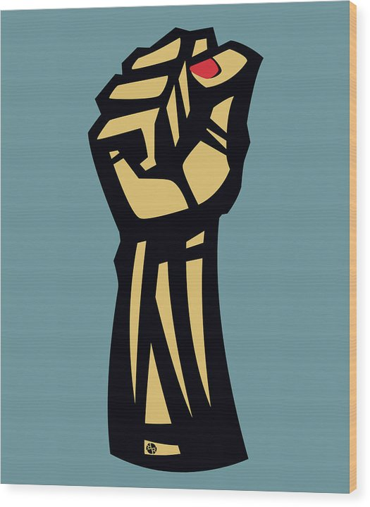 Future Is Female Empower Women Fist - Wood Print