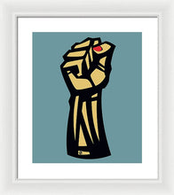 Future Is Female Empower Women Fist - Framed Print
