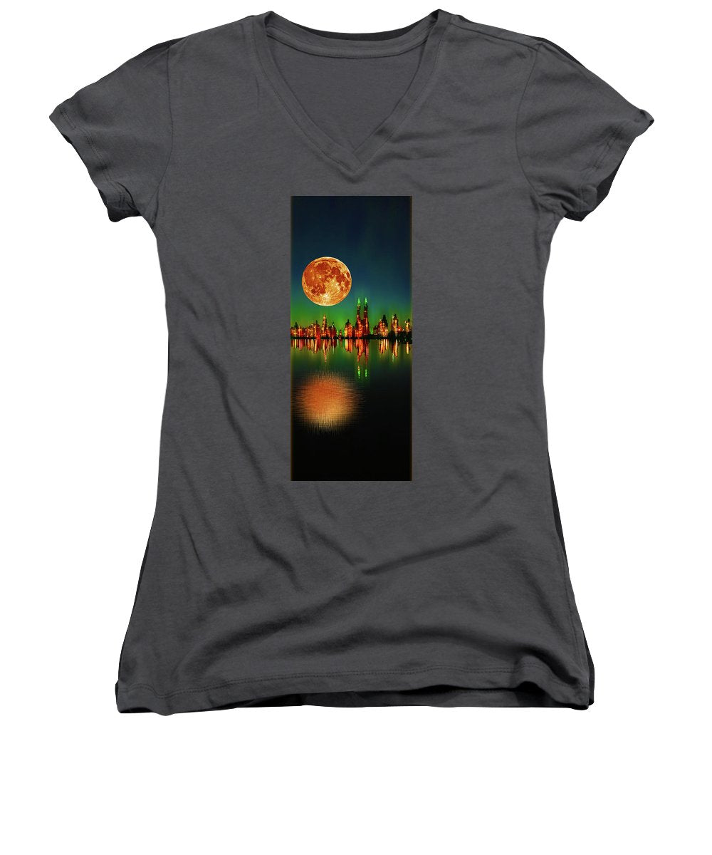 Harvest Moon - Women's V-Neck (Athletic Fit)