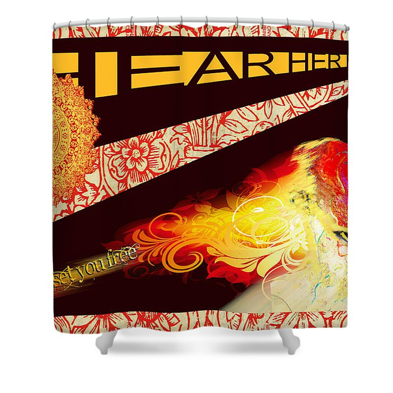 Hear Her Roar - Shower Curtain