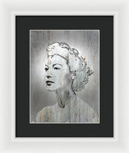 Silver Screen Eva Gardner - Framed Print