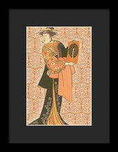 Japanese Woman Rise Rubino                                      - Framed Print