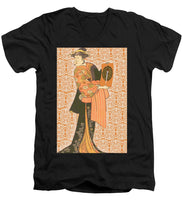 Japanese Woman Rise Rubino                                      - Men's V-Neck T-Shirt