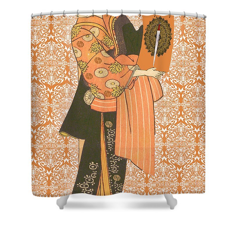 Japanese Woman Rise Rubino                                      - Shower Curtain
