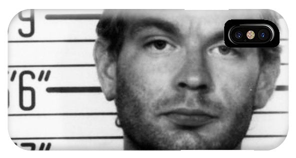 Jeffrey Dahmer Mug Shot 1991 Black And White Square  - Phone Case