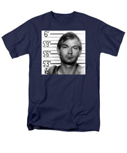 Jeffrey Dahmer Mug Shot 1991 Black And White Square  - Men's T-Shirt  (Regular Fit)