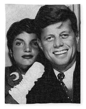 John F Kennedy And Jackie - Blanket