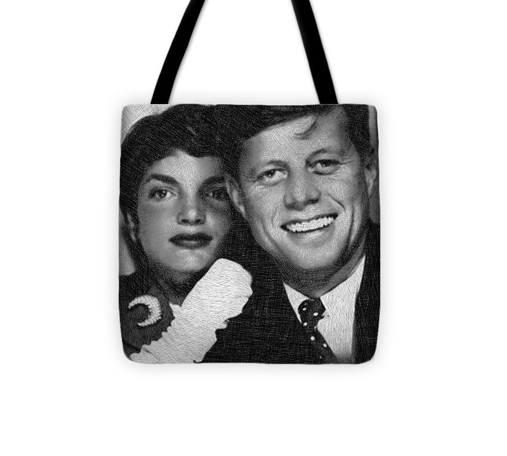John F Kennedy And Jackie - Tote Bag