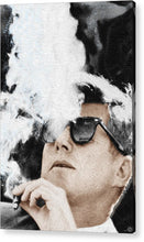 John F Kennedy Cigar And Sunglasses 2 Large - Acrylic Print