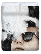 John F Kennedy Cigar And Sunglasses 2 Large - Duvet Cover
