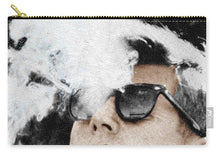 John F Kennedy Cigar And Sunglasses 2 Large - Carry-All Pouch