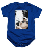 John F Kennedy Cigar And Sunglasses 2 Large - Baby Onesie