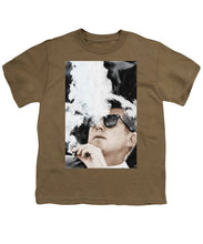 John F Kennedy Cigar And Sunglasses 2 Large - Youth T-Shirt