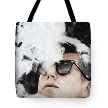 John F Kennedy Cigar And Sunglasses 2 Large - Tote Bag