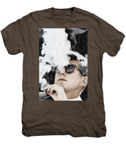 John F Kennedy Cigar And Sunglasses 2 Large - Men's Premium T-Shirt