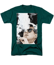 John F Kennedy Cigar And Sunglasses 2 Large - Men's T-Shirt  (Regular Fit)