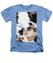 John F Kennedy Cigar And Sunglasses 2 Large - Heathers T-Shirt