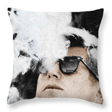 John F Kennedy Cigar And Sunglasses 2 Large - Throw Pillow