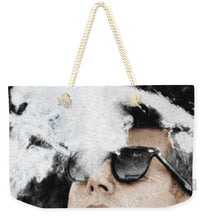 John F Kennedy Cigar And Sunglasses 2 Large - Weekender Tote Bag