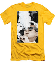 John F Kennedy Cigar And Sunglasses 2 Large - Men's T-Shirt (Athletic Fit)